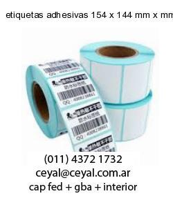 etiquetas adhesivas 154 x 144 mm x mm