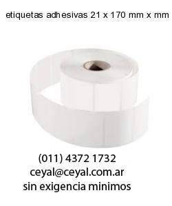etiquetas adhesivas 21 x 170 mm x mm
