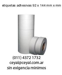 etiquetas adhesivas 92 x 144 mm x mm