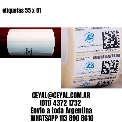 etiquetas 55 x 81