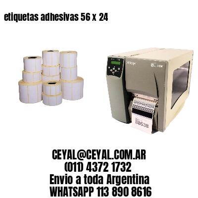 etiquetas adhesivas 56 x 24