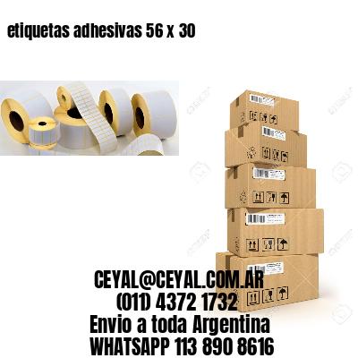 etiquetas adhesivas 56 x 30