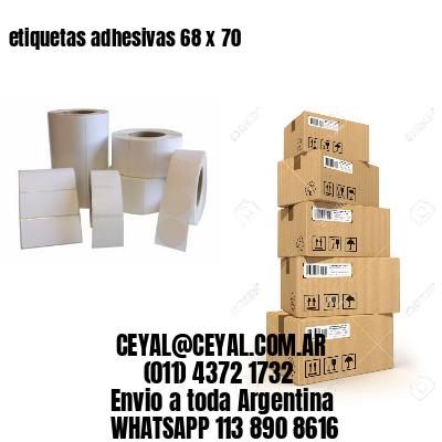 etiquetas adhesivas 68 x 70