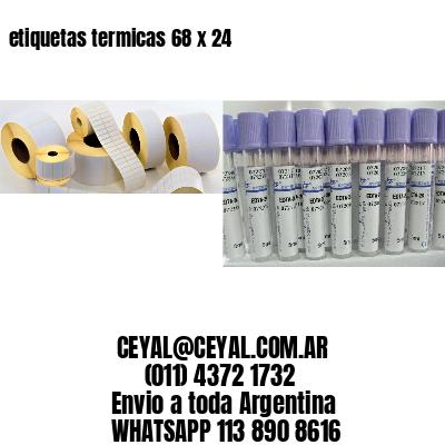 etiquetas termicas 68 x 24