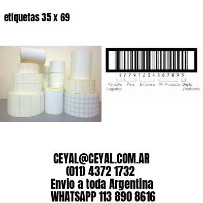etiquetas 35 x 69