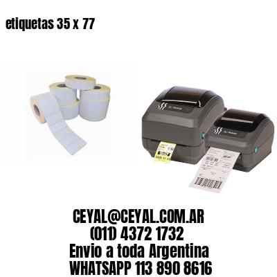 etiquetas 35 x 77