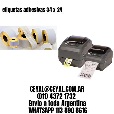 etiquetas adhesivas 34 x 24