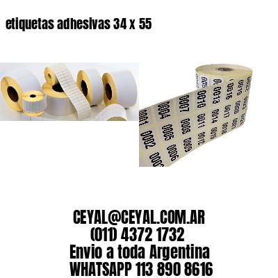 etiquetas adhesivas 34 x 55