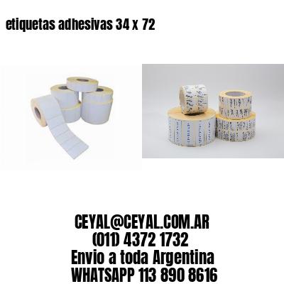 etiquetas adhesivas 34 x 72