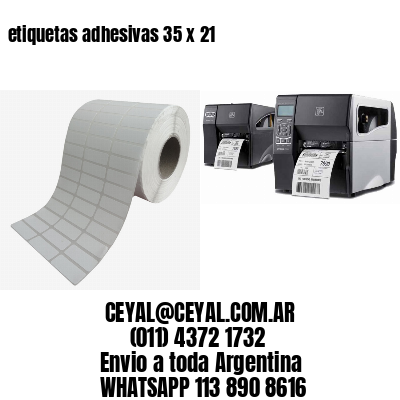 etiquetas adhesivas 35 x 21