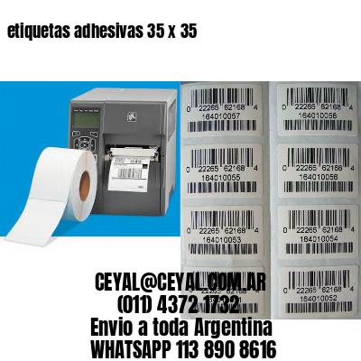 etiquetas adhesivas 35 x 35