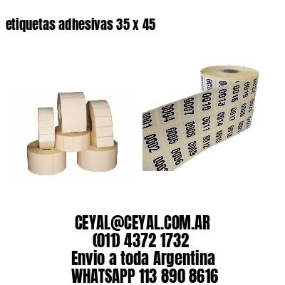 etiquetas adhesivas 35 x 45